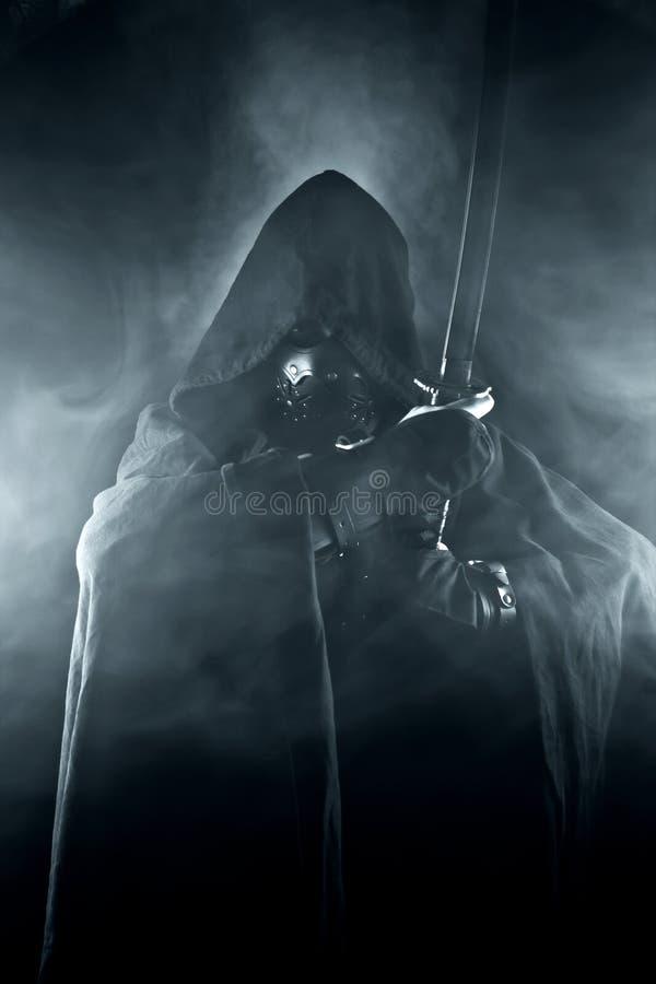 Πολεμιστής στον αφηρημένο καπνό στοκ εικόνα