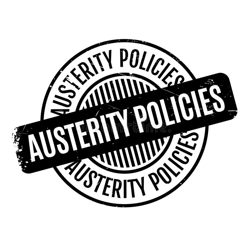 Πολιτική σφραγίδα αυστηρότητας απεικόνιση αποθεμάτων
