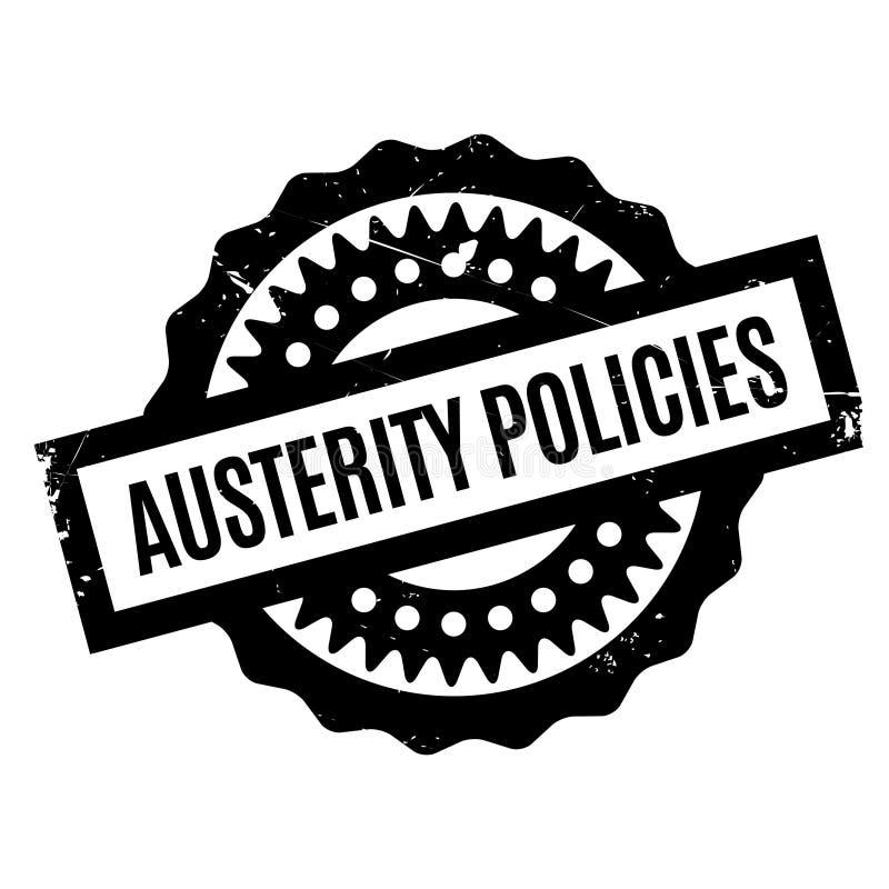 Πολιτική σφραγίδα αυστηρότητας διανυσματική απεικόνιση