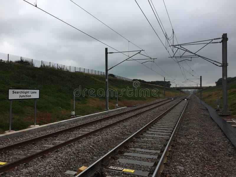 Πολιτικού μηχανικού έργα συμμαχίας SAIP Staffordshire βελτίωσης γεφυρών Norton ραγών δικτύων σιδηροδρόμων συνδέσεων παρόδων προβο στοκ εικόνες
