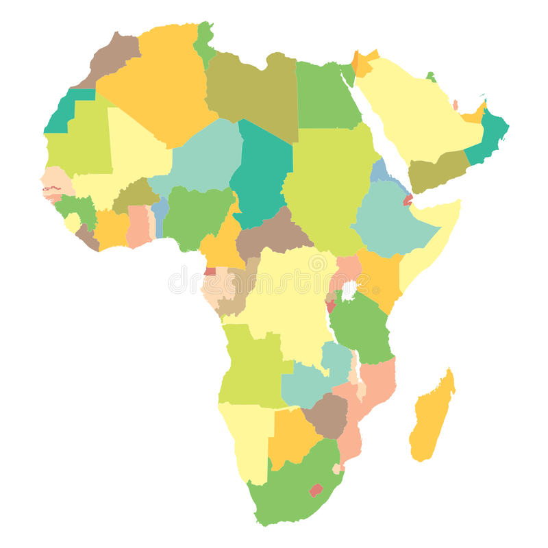 Πολιτικός χάρτης Αφρική ελεύθερη απεικόνιση δικαιώματος