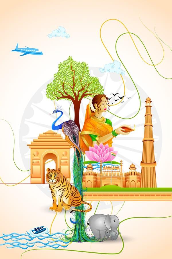 Πολιτισμός της Ινδίας διανυσματική απεικόνιση