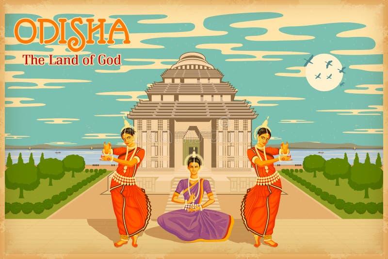 Πολιτισμός Odisha διανυσματική απεικόνιση