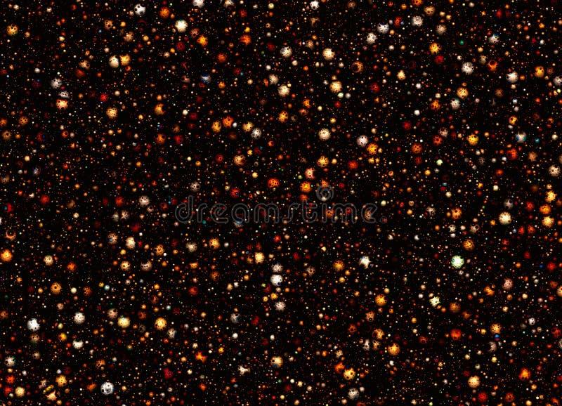 Πολλοί μικρός μετεωρίτης με τους κρατήρες διαστημικά υπόβαθρα αστεριών απεικόνιση αποθεμάτων