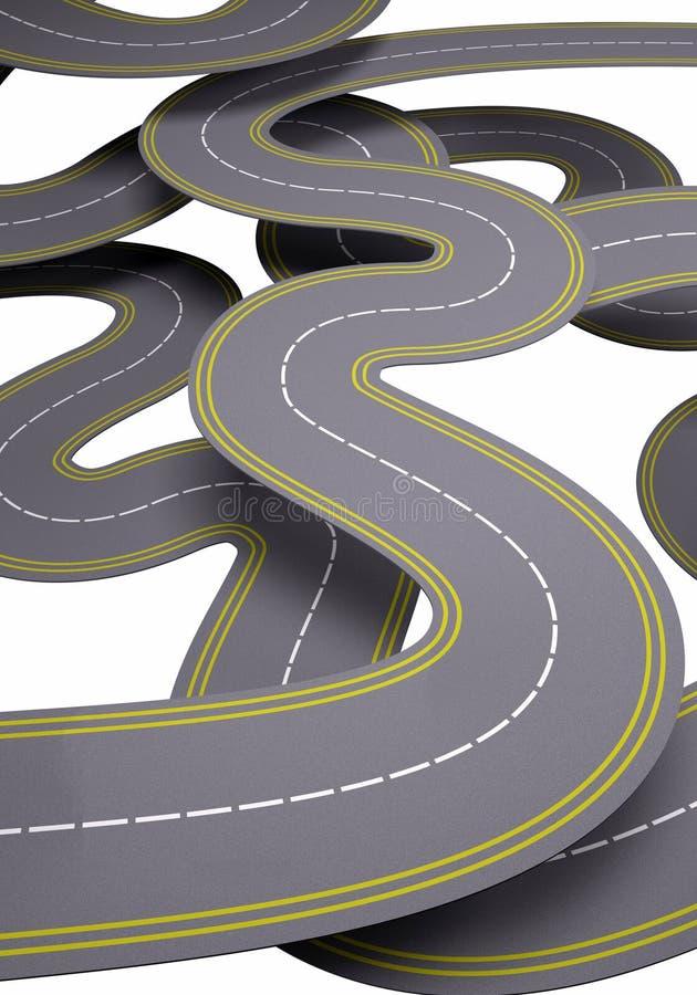 Πολλοί δρόμοι, έννοια κυκλοφορίας διανυσματική απεικόνιση