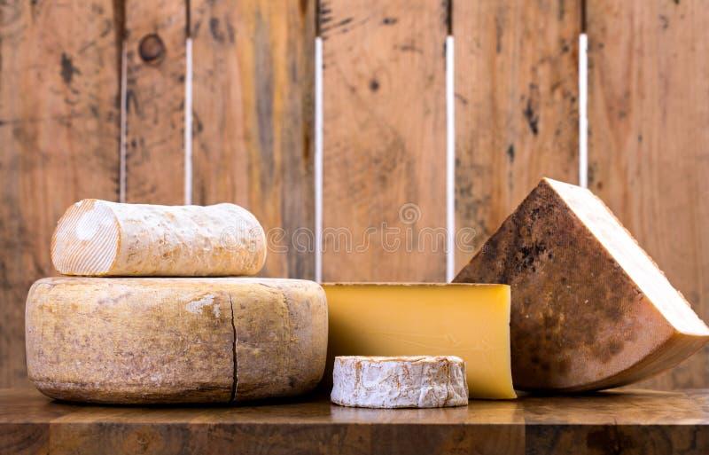 Πολλοί τύποι γαλλικών τυριών στοκ φωτογραφίες με δικαίωμα ελεύθερης χρήσης