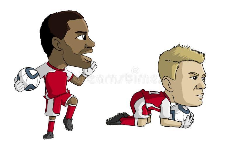 Ποδοσφαιριστές στοκ εικόνα με δικαίωμα ελεύθερης χρήσης