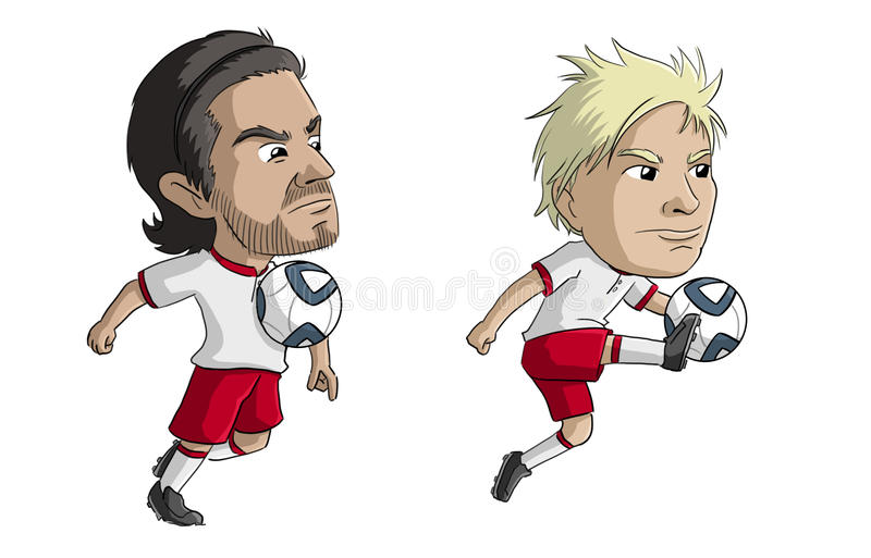 Ποδοσφαιριστές στοκ εικόνα