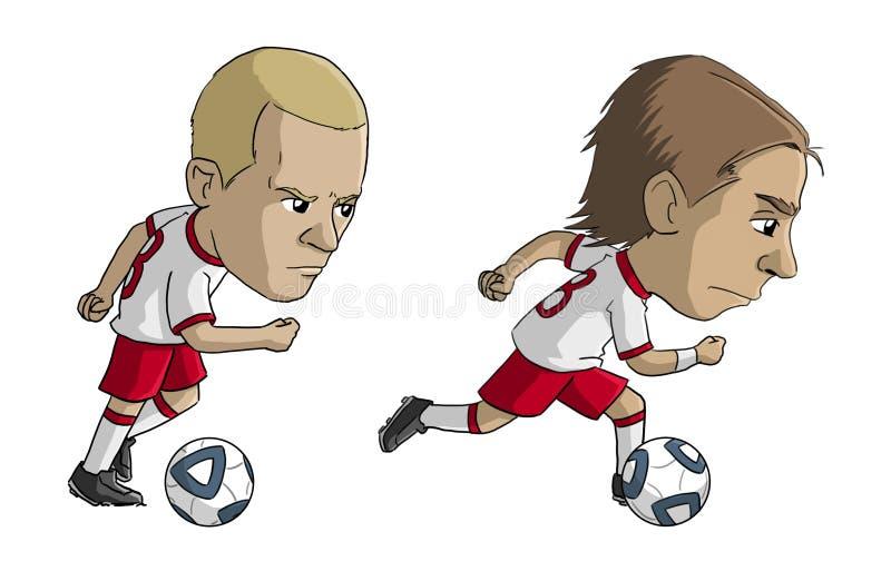 Ποδοσφαιριστές διανυσματική απεικόνιση