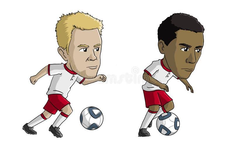 Ποδοσφαιριστές ελεύθερη απεικόνιση δικαιώματος