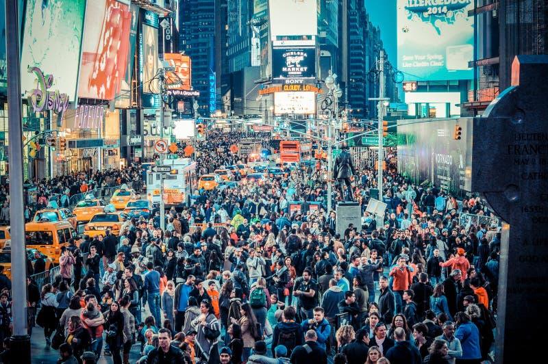 Πολυάσχολο χρονικό τετράγωνο Νέα Υόρκη στοκ φωτογραφία με δικαίωμα ελεύθερης χρήσης