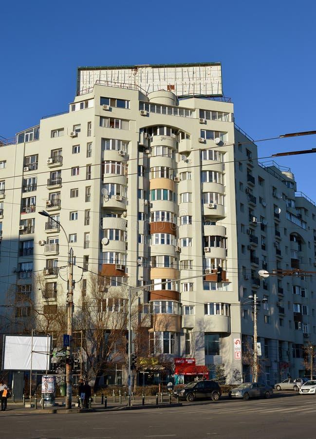 Πολυκατοικία κομμουνιστικός-εποχής, Βουκουρέστι, Ρουμανία στοκ εικόνες