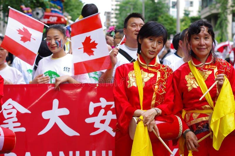 Πολυπολιτισμικοί εορτασμοί ημέρας του Καναδά στοκ εικόνες