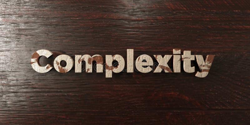 Πολυπλοκότητα - βρώμικος ξύλινος τίτλος στο σφένδαμνο - τρισδιάστατο δικαίωμα ελεύθερη εικόνα αποθεμάτων διανυσματική απεικόνιση