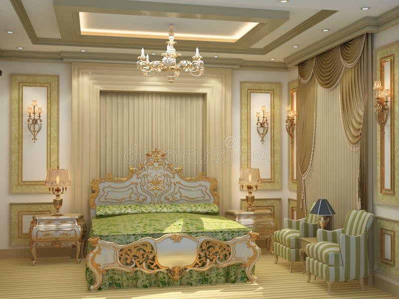 Πολυτελές δωμάτιο κρεβατιών στοκ φωτογραφίες