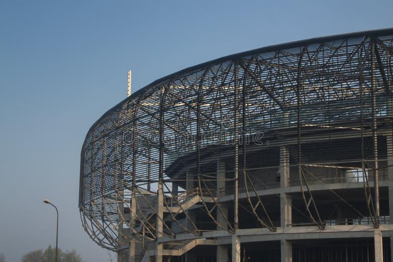 Πολωνία, ανώτερη Σιλεσία, Zabrze, στάδιο κάτω από την κατασκευή στοκ φωτογραφία με δικαίωμα ελεύθερης χρήσης