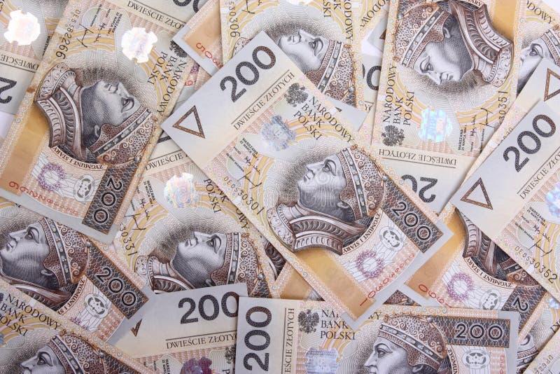Πολωνικά χρήματα, οικονομικό υπόβαθρο στοκ εικόνες