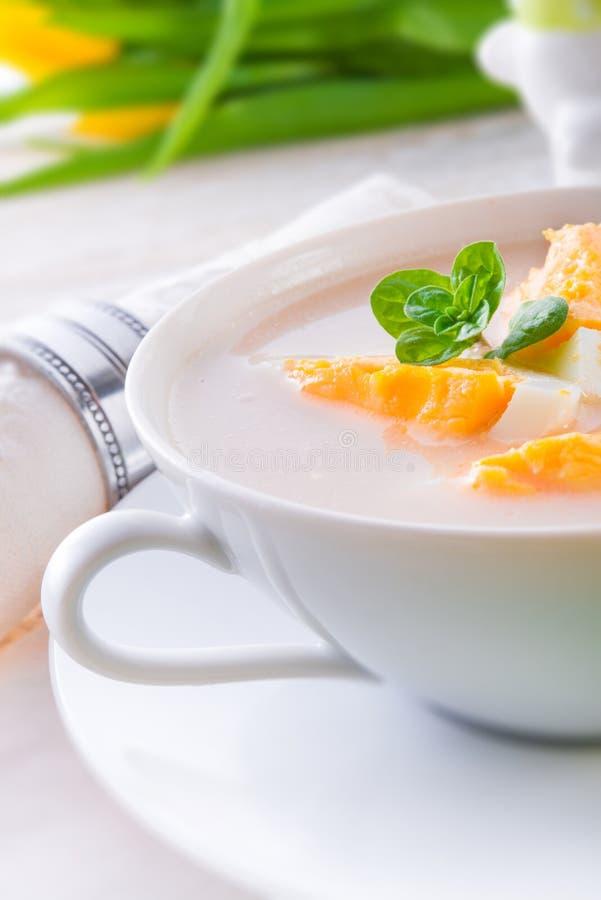 Πολωνική σούπα Πάσχας με το αυγό στοκ εικόνες με δικαίωμα ελεύθερης χρήσης