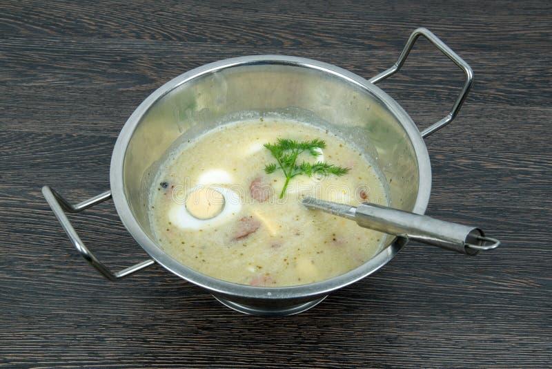 Πολωνική σούπα zurek στοκ φωτογραφία με δικαίωμα ελεύθερης χρήσης