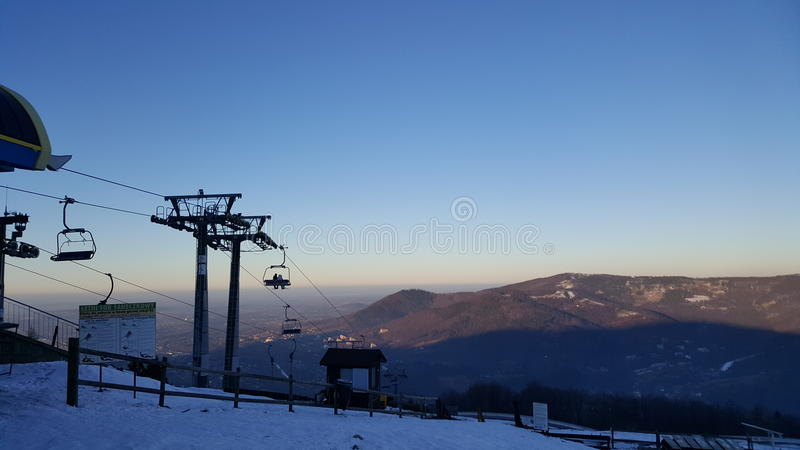 Πολωνικό βουνό στοκ εικόνα