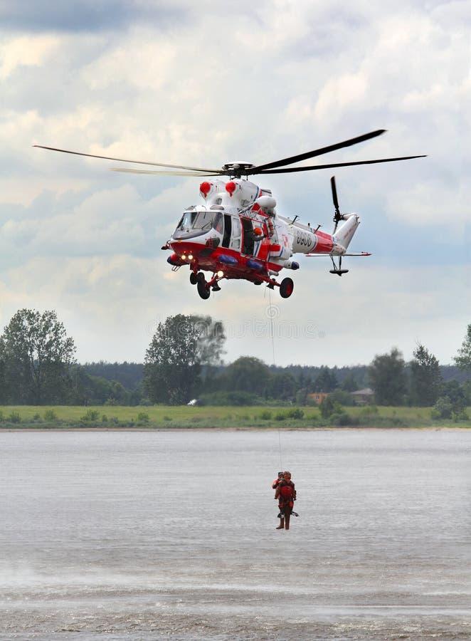 Πολωνικό ελικόπτερο Πολεμικής Αεροπορίας στοκ εικόνα με δικαίωμα ελεύθερης χρήσης