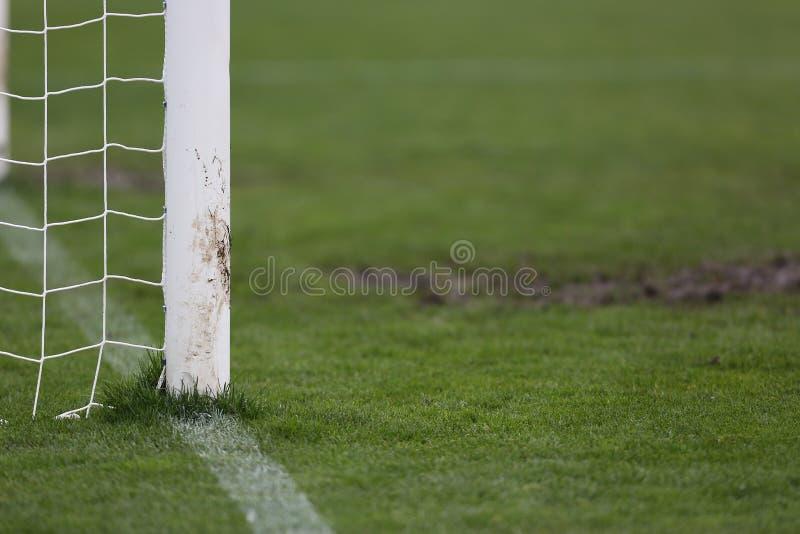 Ποδόσφαιρο ή γήπεδο ποδοσφαίρου στοκ φωτογραφία