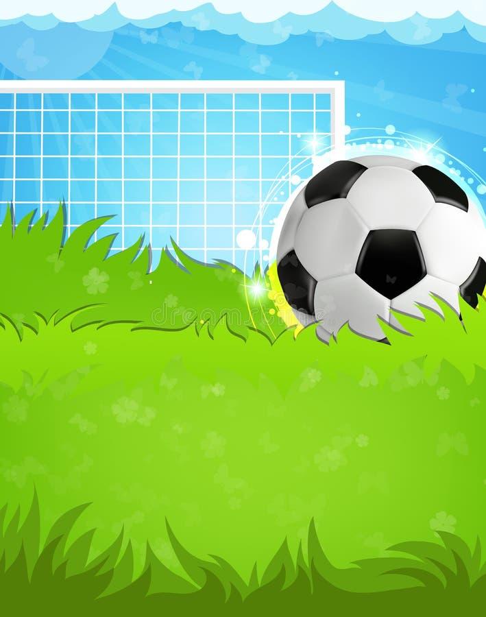 ποδόσφαιρο πεδίων σχεδίου εσείς διανυσματική απεικόνιση