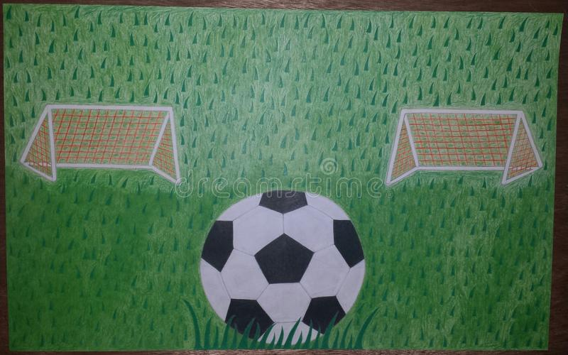 ποδόσφαιρο πεδίων σχεδίου εσείς στοκ εικόνες με δικαίωμα ελεύθερης χρήσης