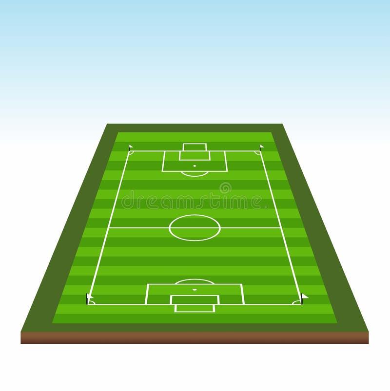 ποδόσφαιρο πεδίων σχεδίου εσείς απεικόνιση αποθεμάτων