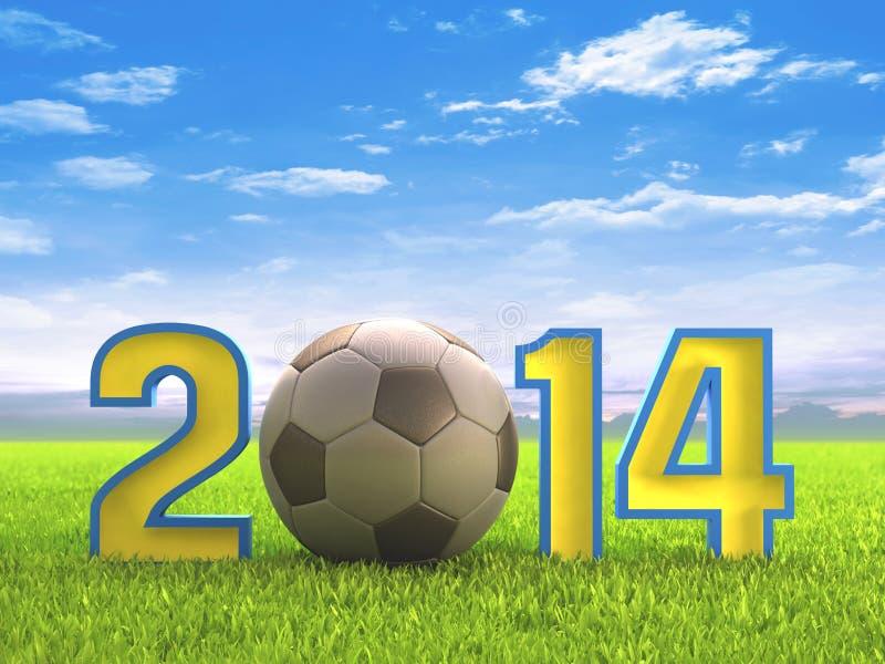 Ποδόσφαιρο 2014 διανυσματική απεικόνιση