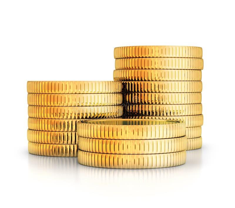 Πολύς χρυσός coints απεικόνιση αποθεμάτων