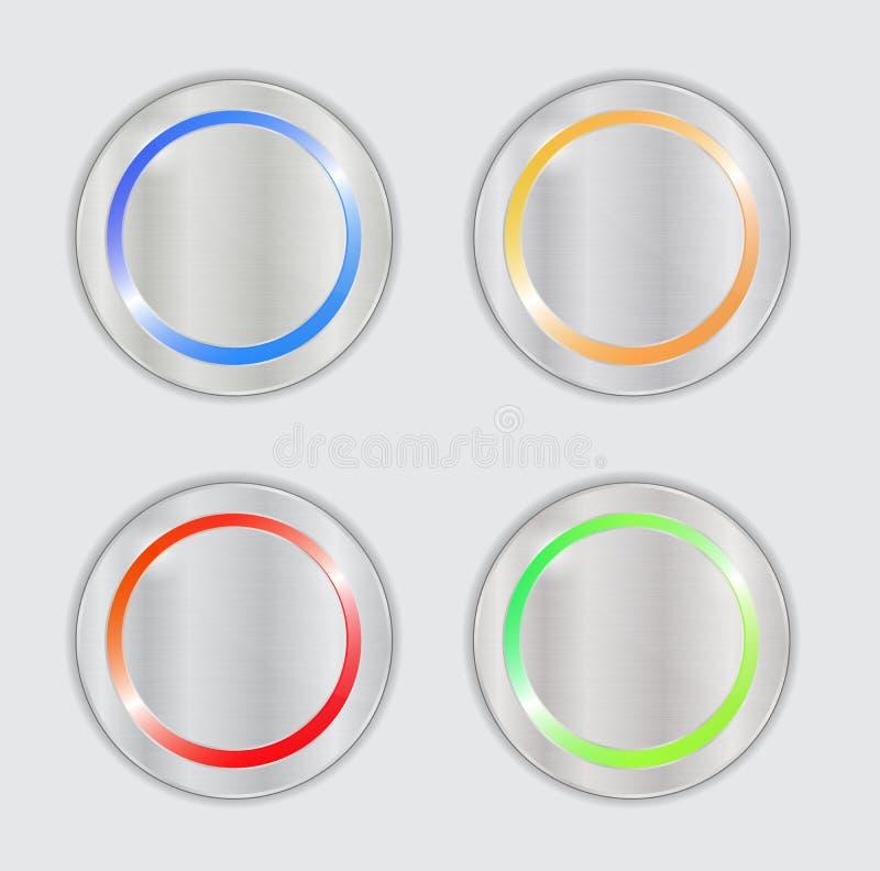 Πολύχρωμα διανυσματικά κουμπιά απεικόνιση αποθεμάτων