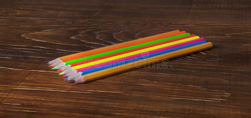 Πολύχρωμα pensils στοκ εικόνα