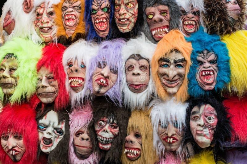 Πολύχρωμες μάσκες στοκ εικόνα