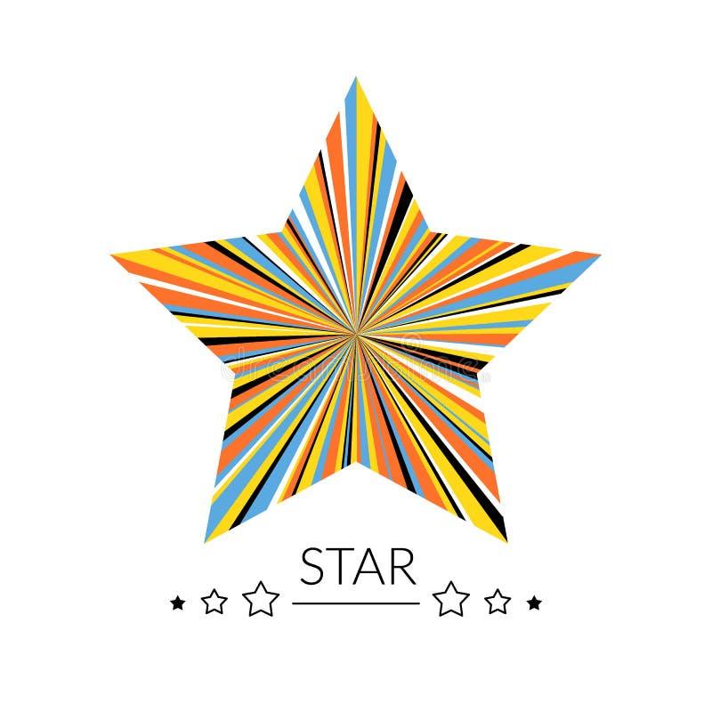 Πολύχρωμη έννοια αστεριών Καμία μάσκα ψαλιδίσματος απεικόνιση αποθεμάτων