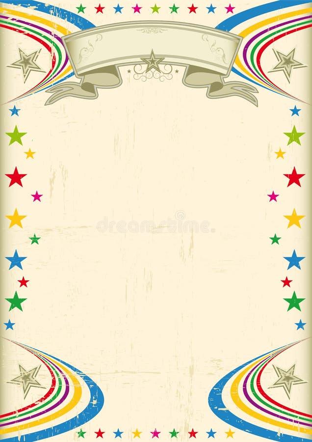 Πολύχρωμη αφίσα γιορτής. ελεύθερη απεικόνιση δικαιώματος