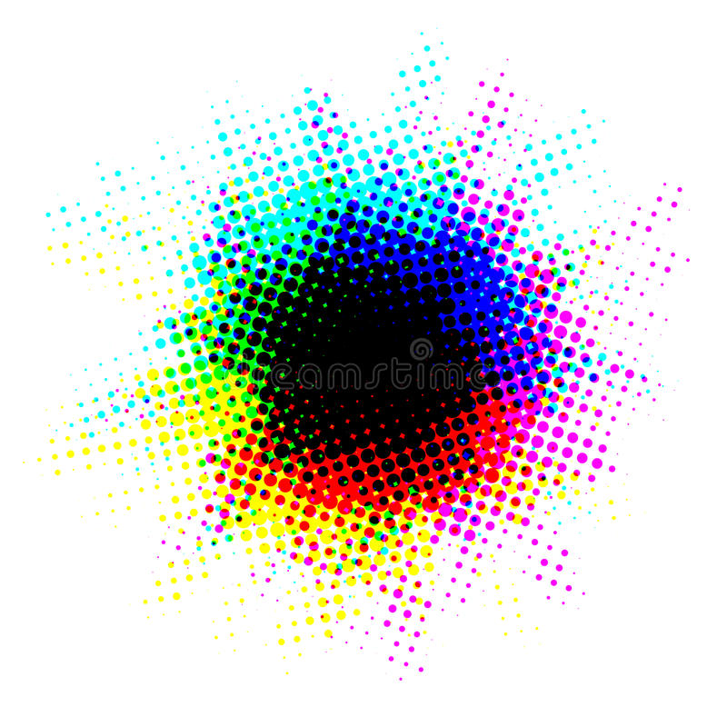 Πολύχρωμος ημίτονος λεκές με τα σημεία απεικόνιση αποθεμάτων