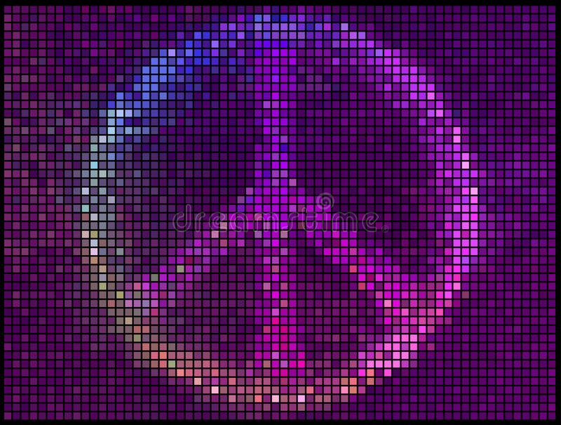 Πολύχρωμο αφηρημένο υπόβαθρο φω'των σημαδιών ειρήνης διανυσματική απεικόνιση