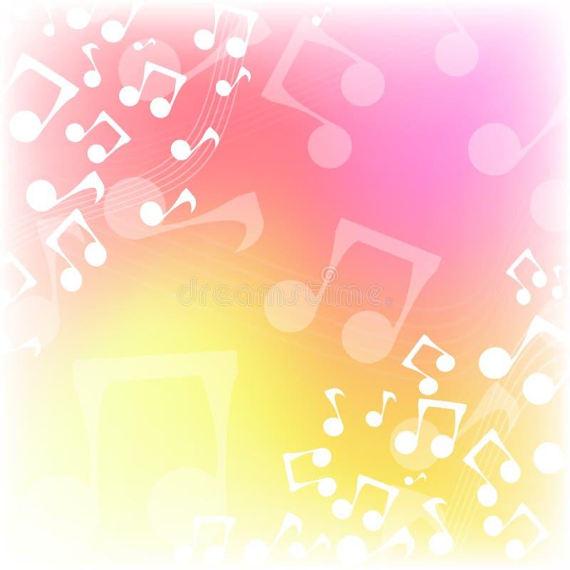 Πολύχρωμο υπόβαθρο μουσικής ελεύθερη απεικόνιση δικαιώματος