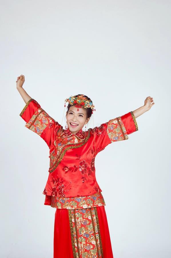 Πολύ ευτυχής κινεζική νύφη στοκ φωτογραφία