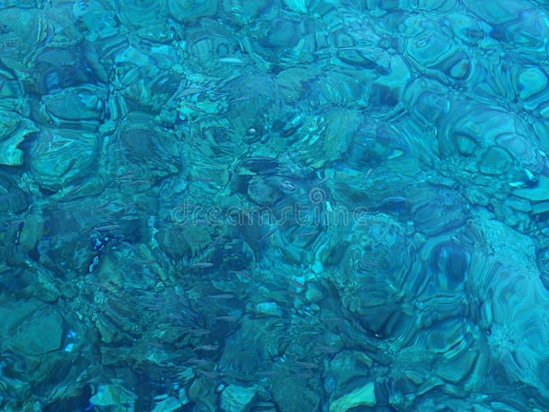 Πολύ καθαρό και μπλε θαλάσσιο νερό στοκ φωτογραφία