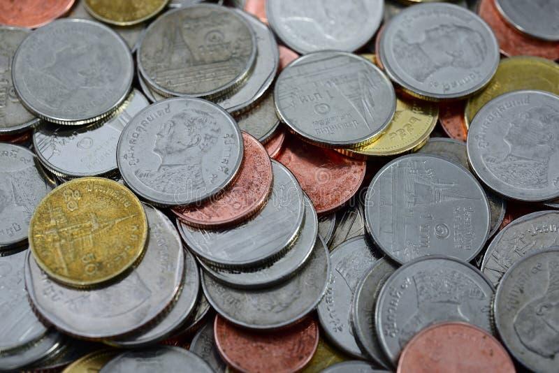 Πολύ νόμισμα της Ταϊλάνδης στοκ εικόνες