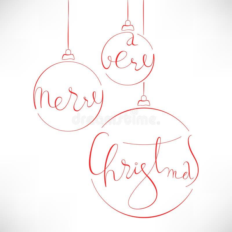 Πολύ Χαρούμενα Χριστούγεννα στοκ εικόνες