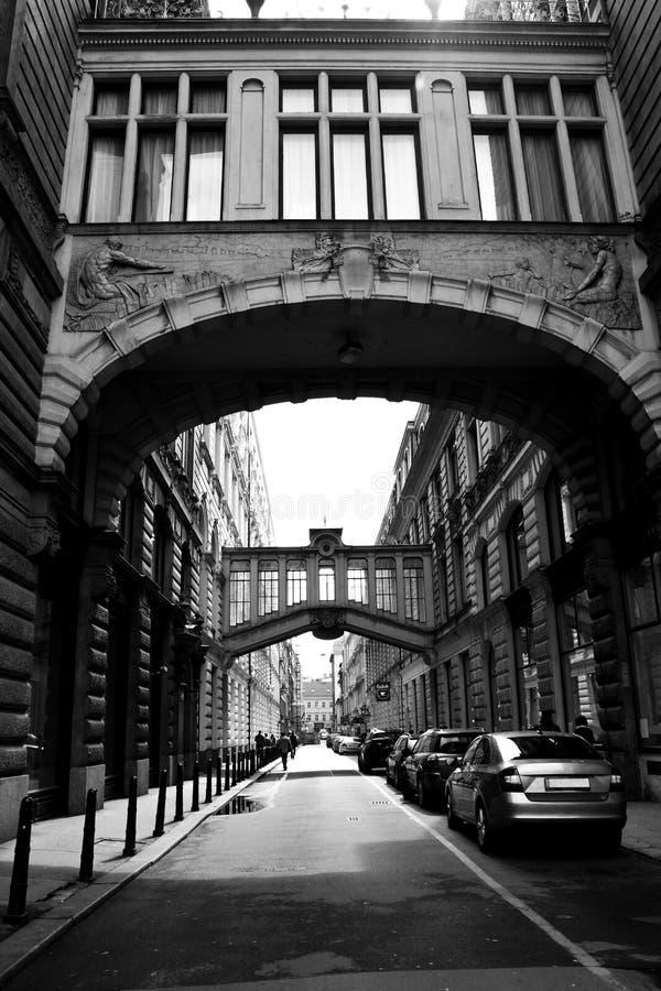 Πολύ όμορφη ιστορική οδός στην Πράγα, Δημοκρατία της Τσεχίας στοκ εικόνες