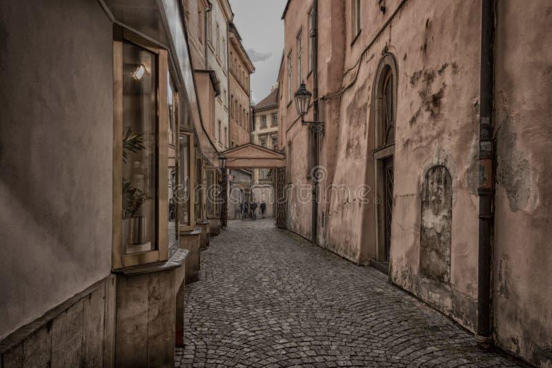 Πράγα - ιστορικές οδοί στοκ φωτογραφίες