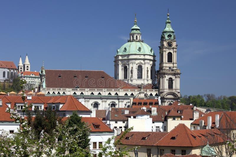 Πράγα - καθεδρικός ναός του ST Nicholas στοκ φωτογραφία με δικαίωμα ελεύθερης χρήσης