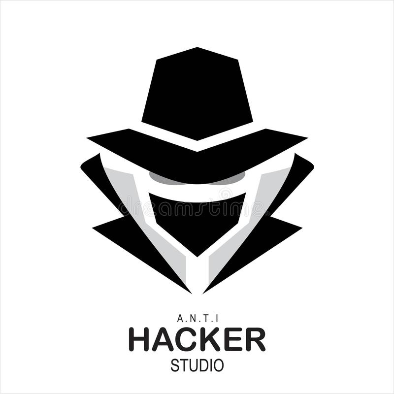 Πράκτορας κατασκόπων, μυστικός πράκτορας, χάκερ ελεύθερη απεικόνιση δικαιώματος