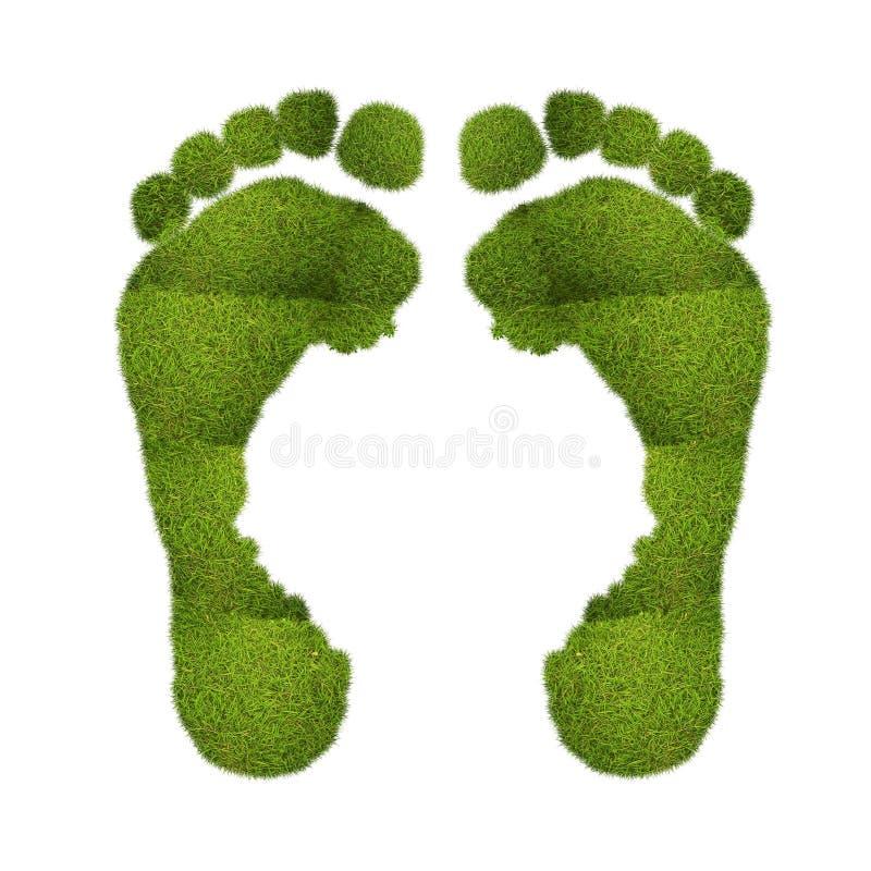 Πράσινα ίχνη. διανυσματική απεικόνιση