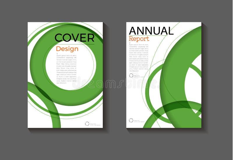 Πράσινα αφηρημένα πρότυπο φυλλάδιων βιβλίων σχεδίου κάλυψης υποβάθρου σχεδιαγράμματος σύγχρονα σύγχρονα, ετήσια έκθεση, περιοδικό ελεύθερη απεικόνιση δικαιώματος