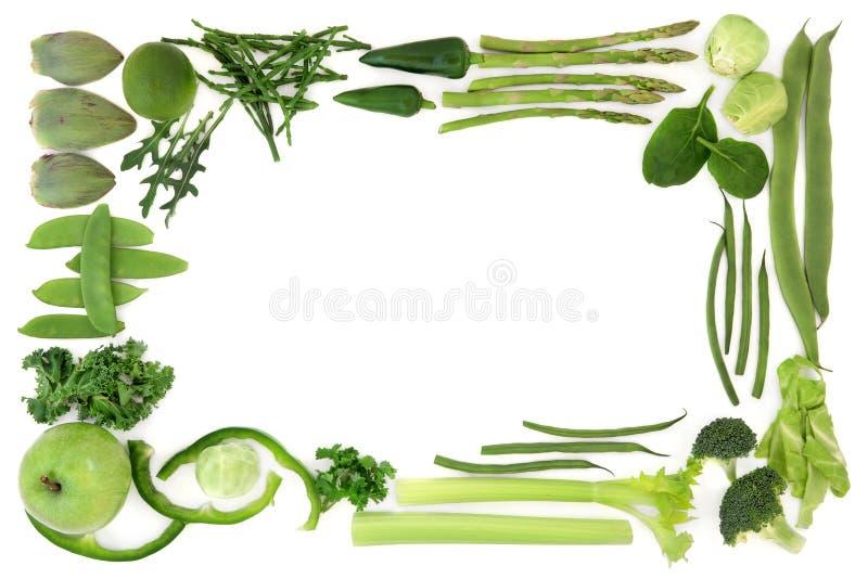 Πράσινα αφηρημένα σύνορα τροφίμων στοκ εικόνες με δικαίωμα ελεύθερης χρήσης